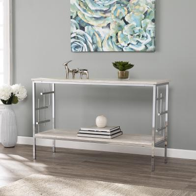Freston Faux Marble Console Table
