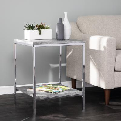 Lyrran Faux Concrete End Table
