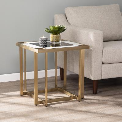 Magdalere Contemporary Mirrored End Table