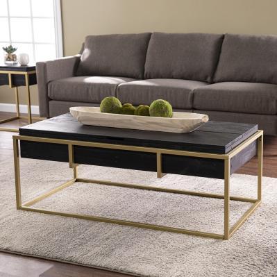 Durmanton Reclaimed Wood Storage Cocktail Table