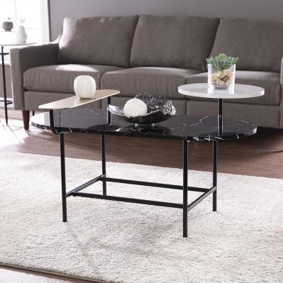 Arcklid Faux Marble Cocktail Table w/ Storage