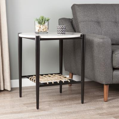Relckin Faux Marble End Table