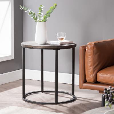 Landsmill Round Industrial End Table