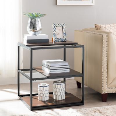 Decklan Sliding Shelf End Table