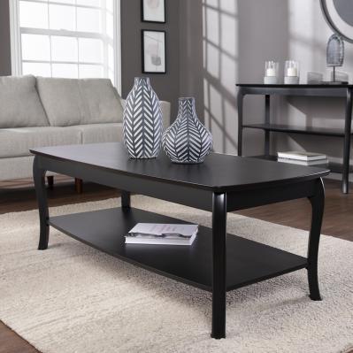 Ava Rectangular Cocktail Table - Black
