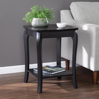 Ava Square End Table - Black