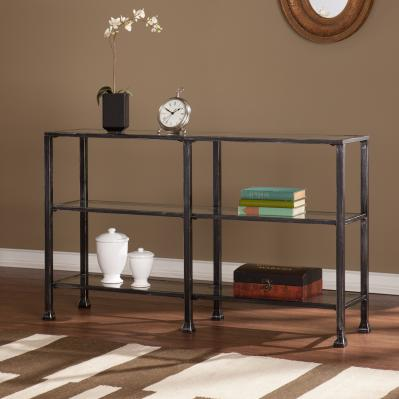 JAYMES METAL/GLASS 3-TIER CONSOLE TABLE