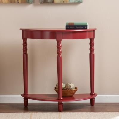 Tyra Demilune Table - Red