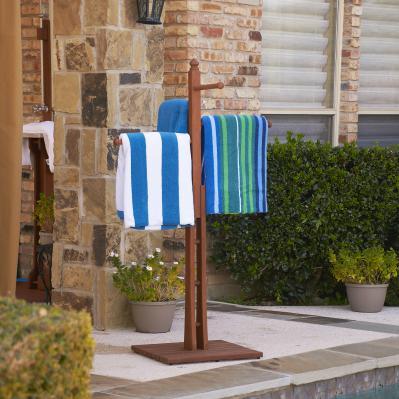 Hardwood Towel Rack - Oiled Finish