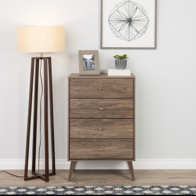 Milo 4-drawer Chest, Drifted Gray