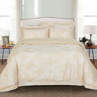 Jacquard King Duvet Cover Set Fitted Sheet Bedding | Dolce Mela DM503K