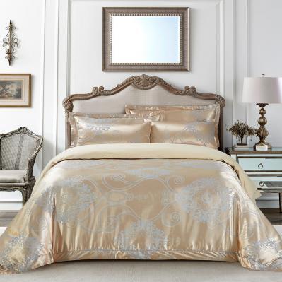 Jacquard King Duvet Cover Set Fitted Sheet Bedding | Dolce Mela DM506K