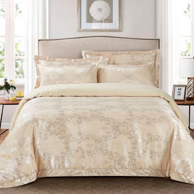 Jacquard King Duvet Cover Set Fitted Sheet Bedding | Dolce Mela DM507K