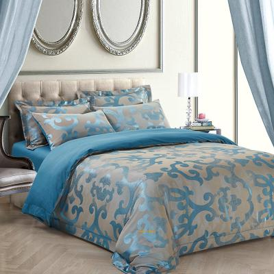 Jacquard Queen Duvet Cover Set Fitted Bedding | Dolce Mela DM513Q