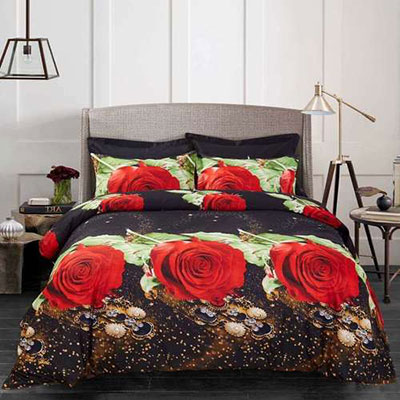 Dolce Mela - Night Roses - Queen Size