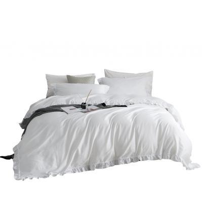 DM807Q | Queen Size 6 piece Duvet Cover Set Ruffled Bedding 100% Cotton