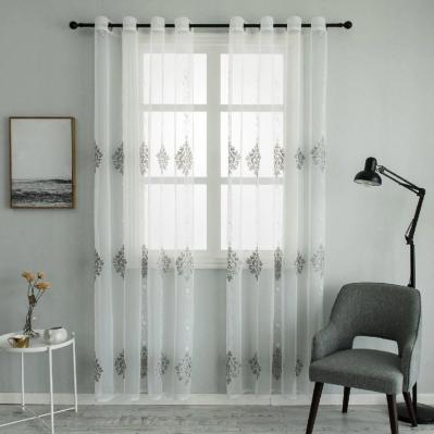 Dolce Mela - Nexus - Sheer Curtain Panel - Gray on White