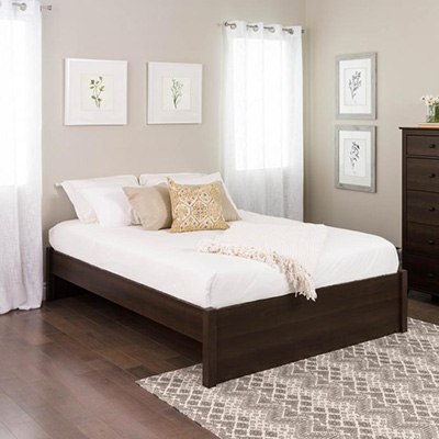Queen Select 4-Post Platform Bed, Espresso