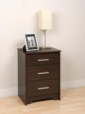Espresso Coal Harbor 3 Drawer Tall Nightstand