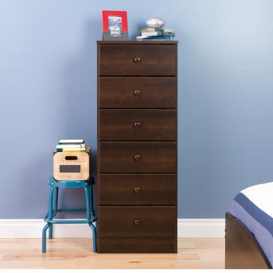 Astrid 6-Drawer Tall Chest, Espresso