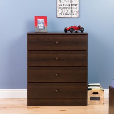 Astrid 4-Drawer Dresser, Espresso