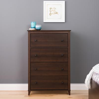 Yaletown 4-Drawer Chest, Espresso