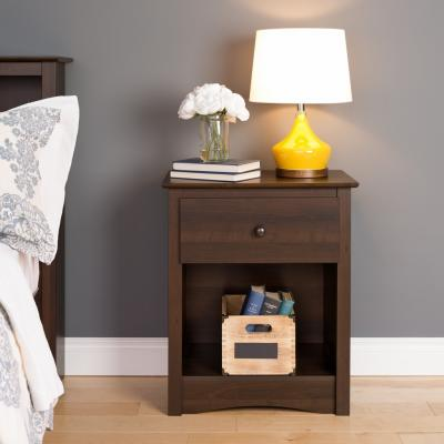 Fremont 1-drawer Tall Nightstand, Espresso