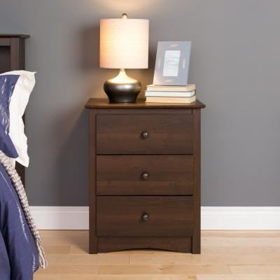 Fremont 3-drawer Tall Nightstand, Espresso
