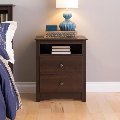 Fremont 2 Drawer Tall with Open Cubbie