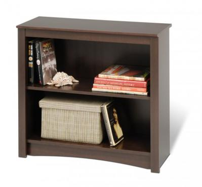 Espresso 2-shelf Bookcase