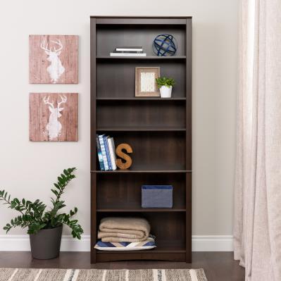 6-shelf Bookcase, Espresso
