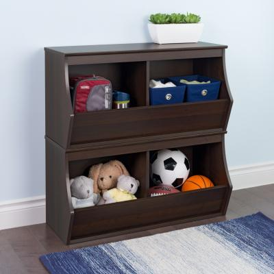 Fremont Stacked 4-Bin Storage Cubby