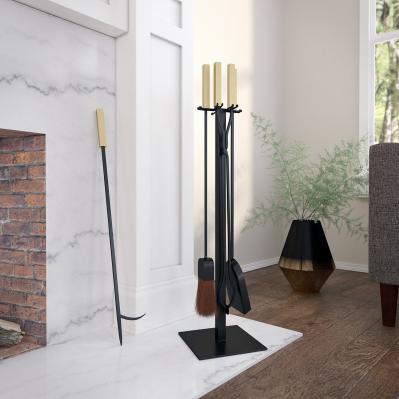 Vancedale Modern Fireplace Tools - 4pc Set
