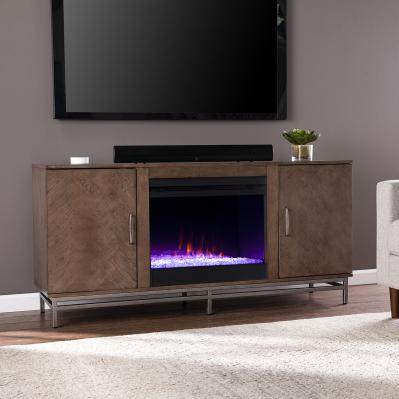 Dibbonly Color Changing Fireplace w/ Media Storage