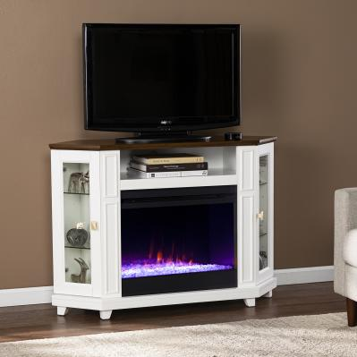 Dilvon Color Changing Fireplace w/ Media Storage