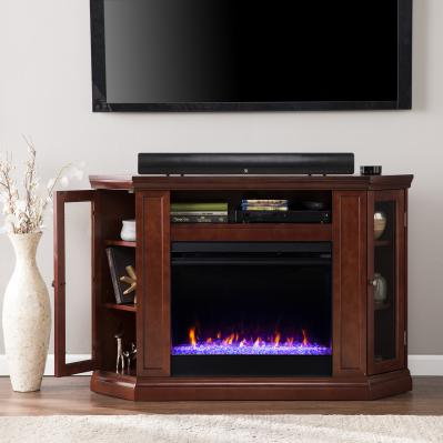 Claremont Color Changing Convertible Fireplace - Cherry