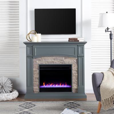 Seneca Color Changing Media Fireplace - Gray