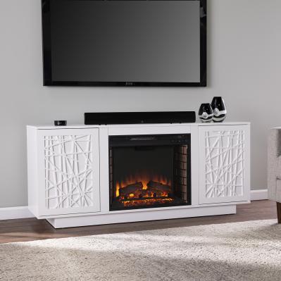 Delgrave Electric Media Fireplace w/ Storage