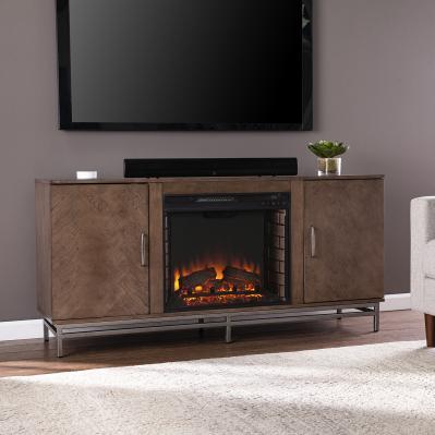 Dibbonly Electric Fireplace w/ Media Storage