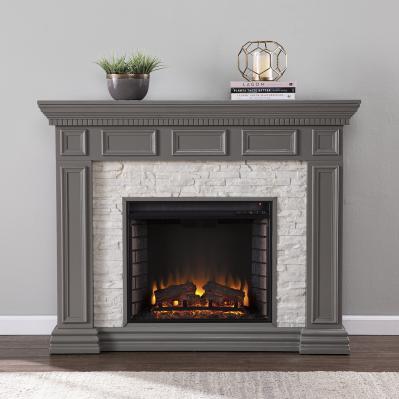 Dakesbury Faux Stone Electric Fireplace