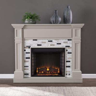 Birkover Electric Fireplace w/ Marble Surround