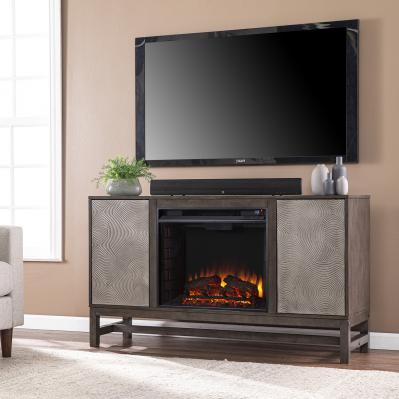 Lannington Electric Fireplace w/ Media Storage