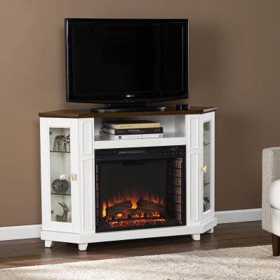 Dilvon Electric Media Fireplace w/ Storage