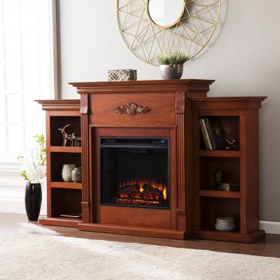 Tennyson Electric Fireplace - Mahogany