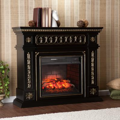 Donovan Infrared Electric Fireplace - Black