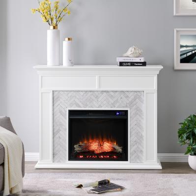 Torlington Marble Tiled Electric Fireplace