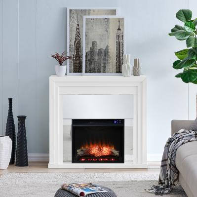 Stadderly Mirrored Electric Fireplace