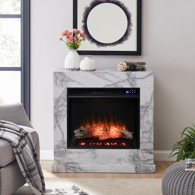 Dendale Faux Marble Electric Fireplace