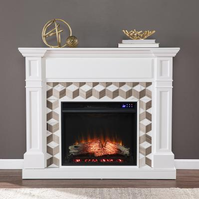 Darvingmore Electric Fireplace w/ Marble Surround