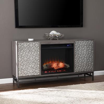Hollesborne Electric Fireplace w/ Media Storage